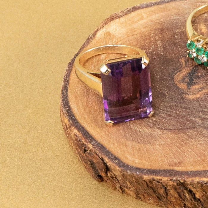 Classic Amethyst Ring - THE ANTIQUE GUILD - The Shops at Mount Vernon