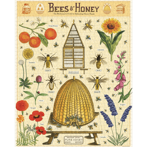 Bees & Honey Puzzle - Cavallini Papers & Co. Inc - The Shops at Mount Vernon