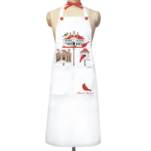 Winter Bird Houses Bistro Apron - MARY LAKE-THOMPSON LTD - The Shops at Mount Vernon