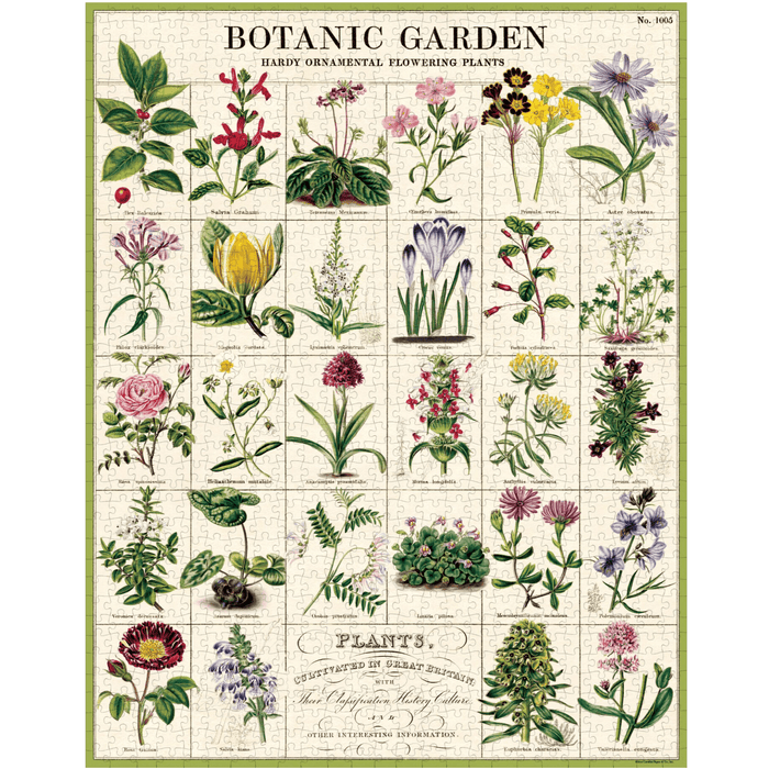 Botanic Garden Puzzle - Cavallini Papers & Co. Inc - The Shops at Mount Vernon