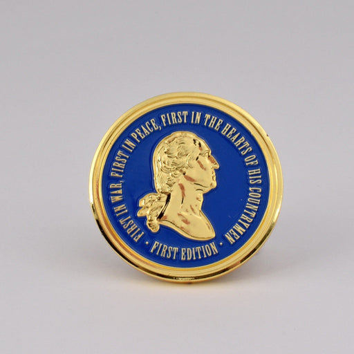 GW Challenge Coin - First Edition - DESIGN MASTER ASSOCIATES - The Shops at Mount Vernon