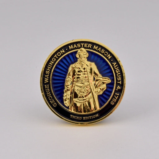 Master Mason Challenge Coin - Third Edition - DESIGN MASTER ASSOCIATES - The Shops at Mount Vernon