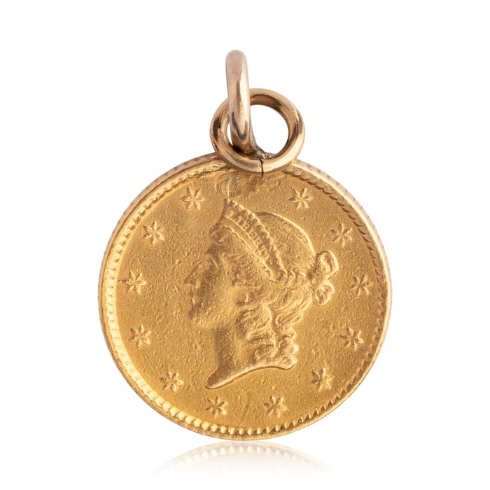 Gold Coin Charm - THE ANTIQUE GUILD - The Shops at Mount Vernon