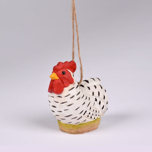 Wooden Dominique Chicken Ornament - DESIGN MASTER ASSOCIATES - The Shops at Mount Vernon
