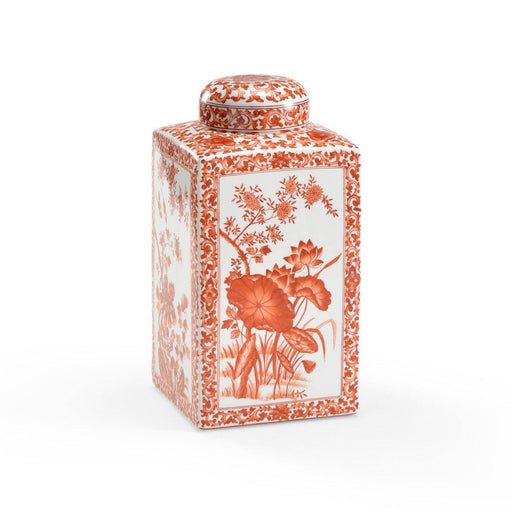 Chelsea House Cinnabar Square Vase Tea Caddy - CHELSEA HOUSE - The Shops at Mount Vernon