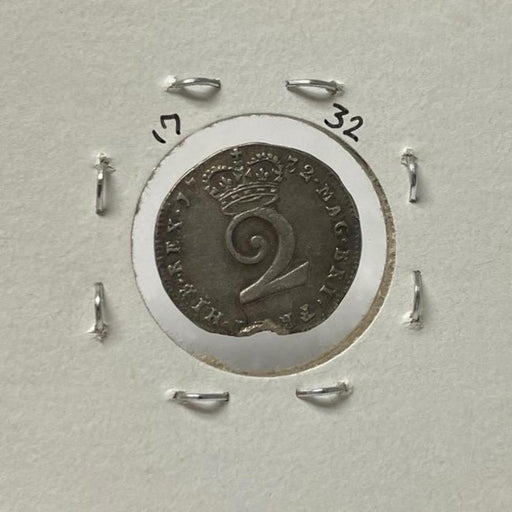 1732 British Silver Two-Pence Antique Coin - The Shops at Mount Vernon