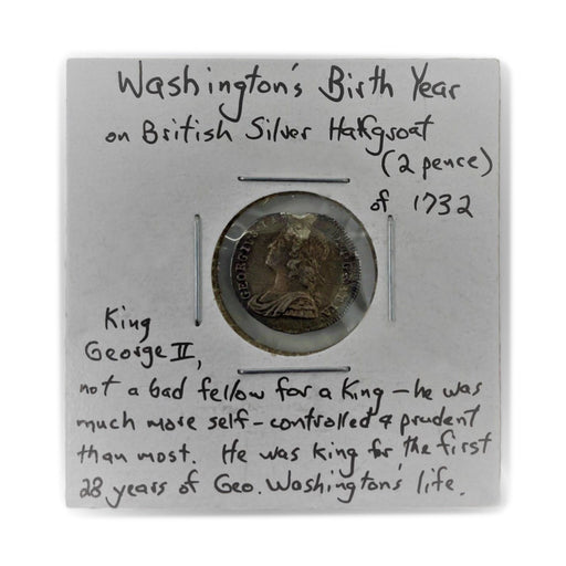 1732 British Silver Two-Pence Antique Coin - DAVID CONSOLVO - The Shops at Mount Vernon