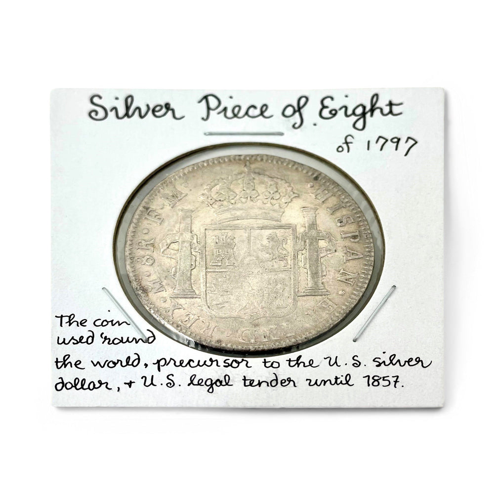 1797 Silver Piece of Eight Antique Coin - DAVID CONSOLVO - The Shops at Mount Vernon