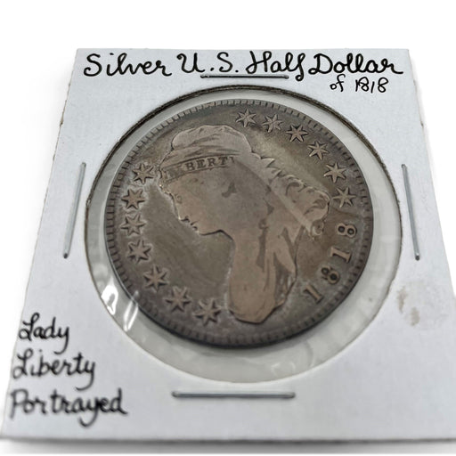 1818 Silver U.S. Half Dollar Antique Coin - DAVID CONSOLVO - The Shops at Mount Vernon