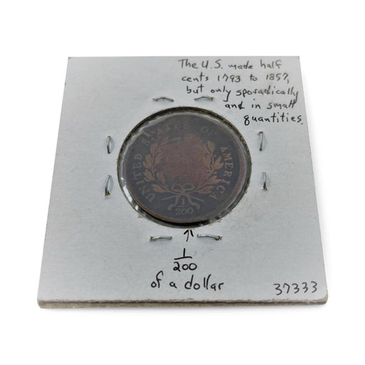 1795 U.S. Half Cent Antique Coin - DAVID CONSOLVO - The Shops at Mount Vernon