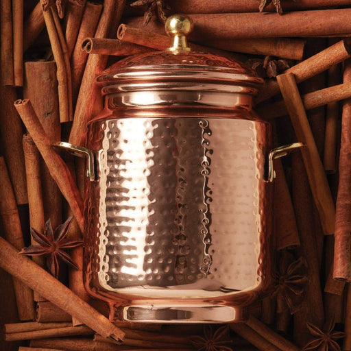Simmered Cider Tall Copper Pot Candle - Thymes - The Shops at Mount Vernon
