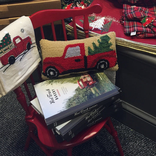 Christmas Truck Hooked Mini Pillow - C & F ENTERPRISE - The Shops at Mount Vernon