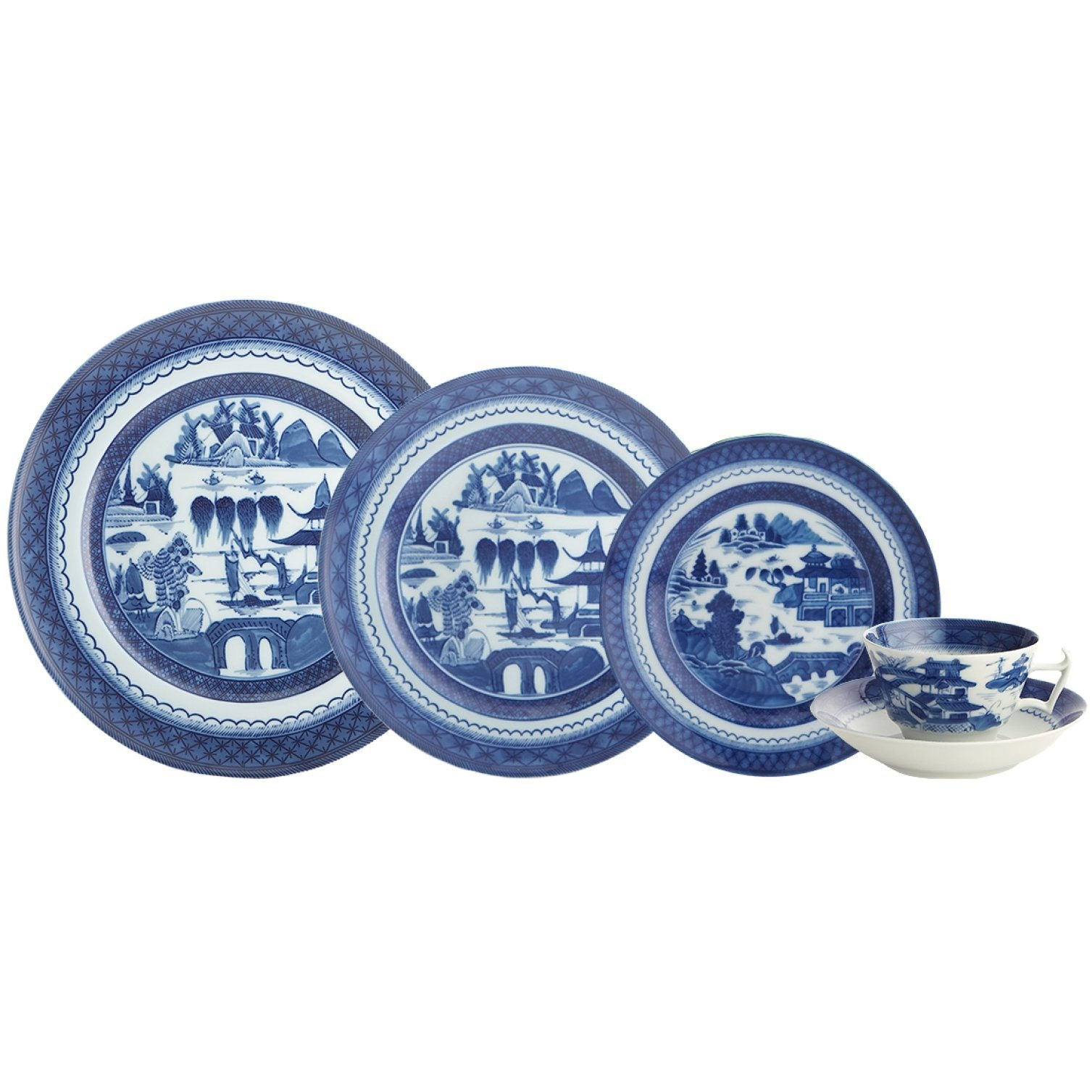 Blue Canton China Collection