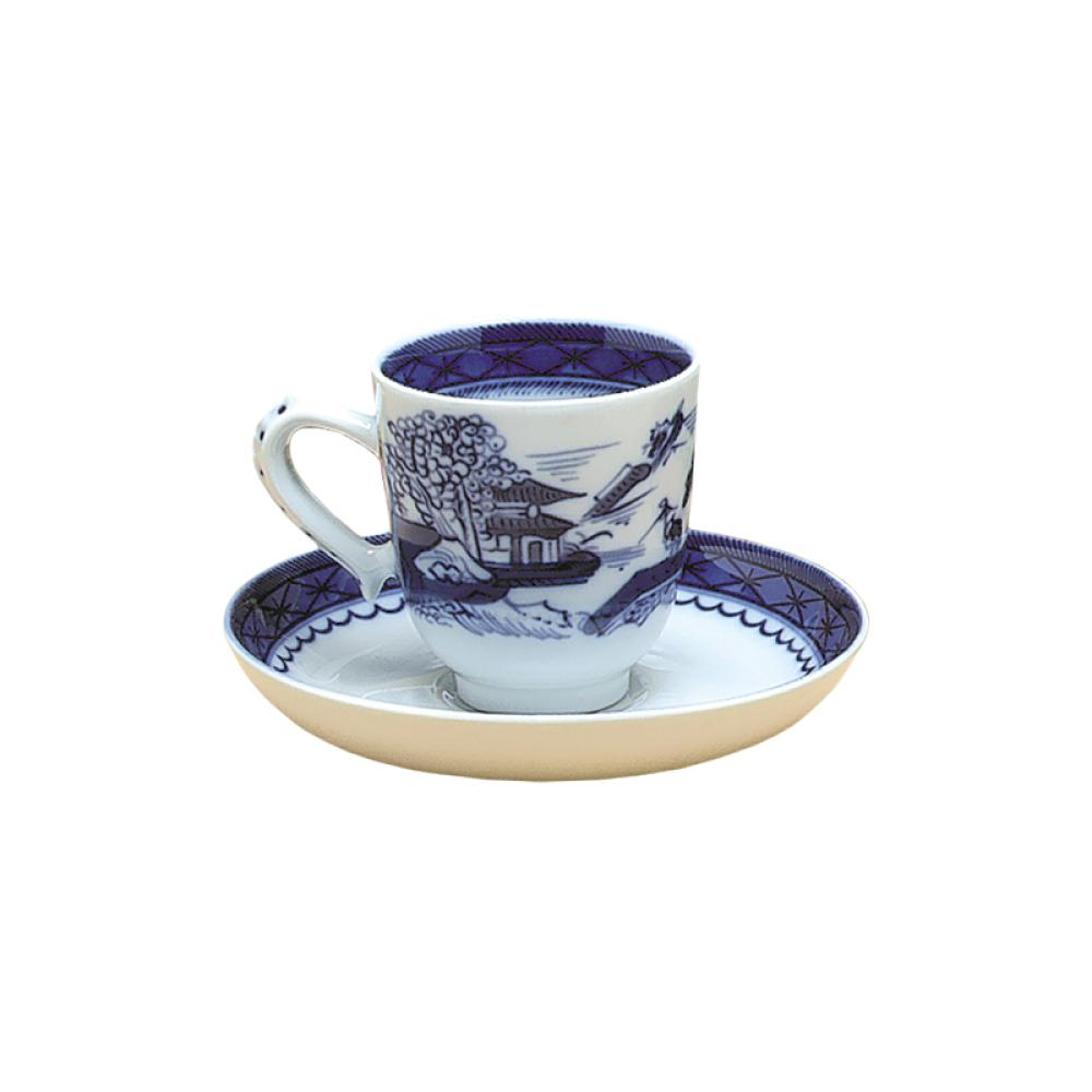 Blue Canton Cups and Saucers by Mottahedeh