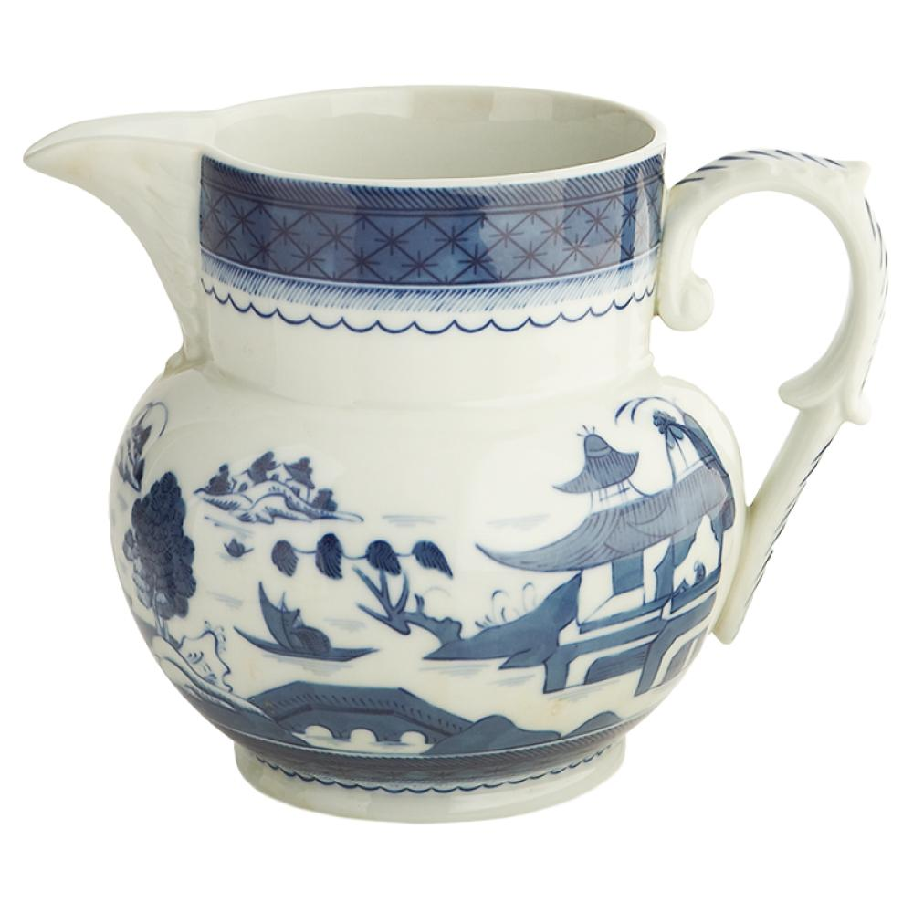 "Blue Canton 6 ½"" Large Pitcher - The Shops at Mount Vernon - The Shops at Mount Vernon"