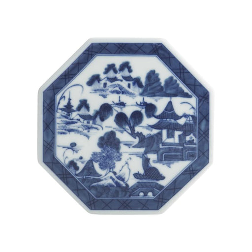"Blue Canton 5 ¼"" Octagonal Tile - MOTTAHEDEH & COMPANY, INC - The Shops at Mount Vernon"