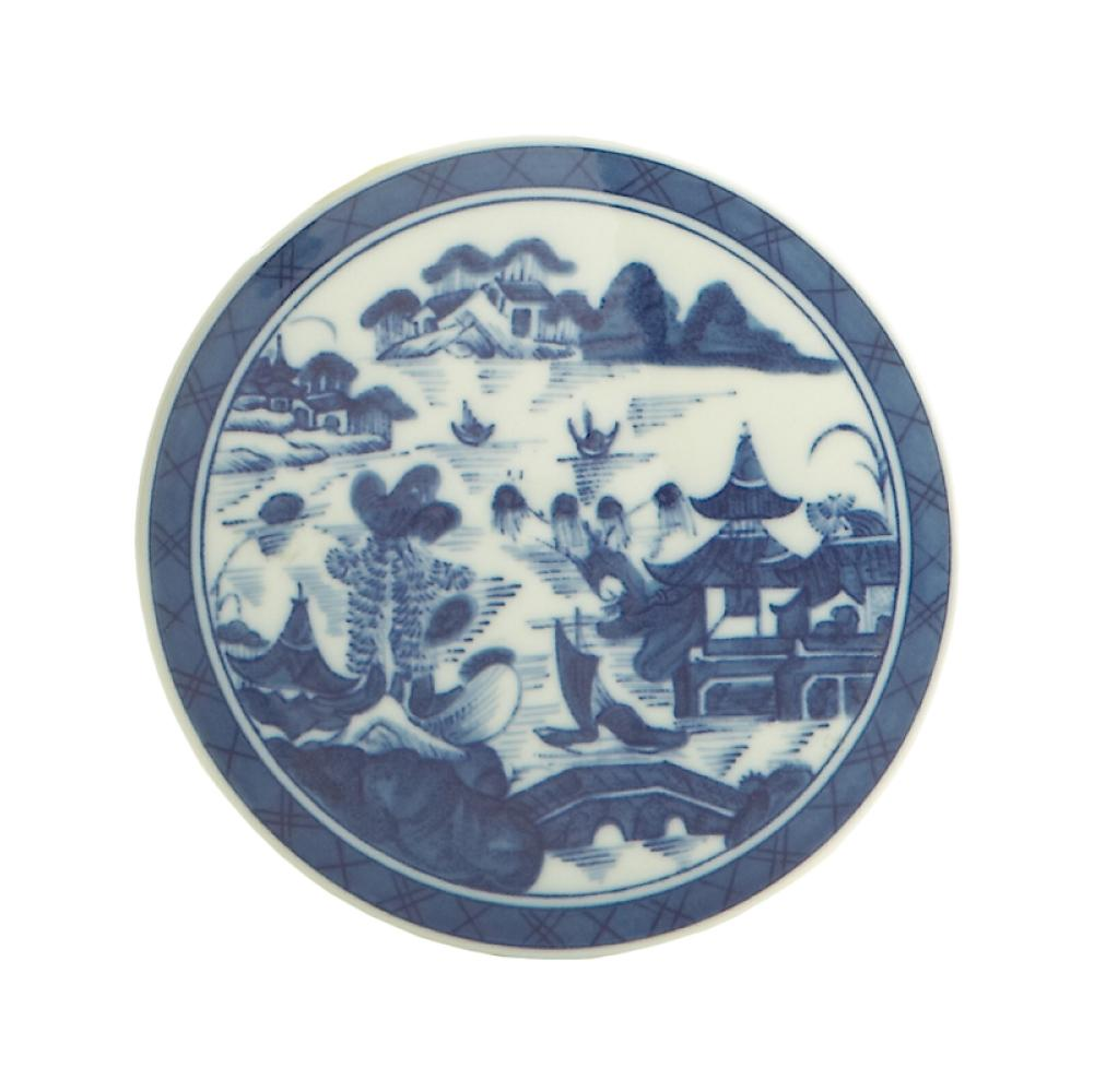 "Blue Canton 5 ¼"" Round Tile - MOTTAHEDEH & COMPANY, INC - The Shops at Mount Vernon"