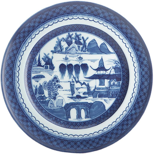 Blue Canton Large Dinner Plate - MOTTAHEDEH & COMPANY, INC - The Shops at Mount Vernon