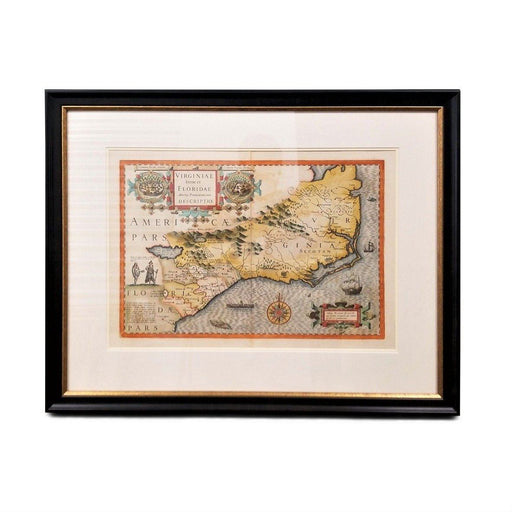 Virginia Mercator Hondius Map - Rick Badwey-Frameabilia - The Shops at Mount Vernon