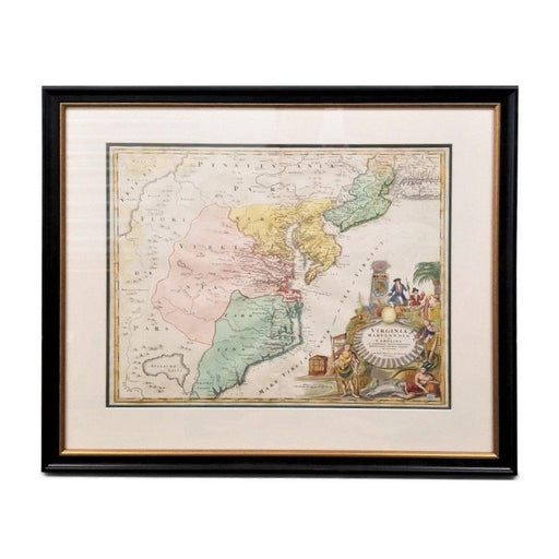 Homann's Framed Map - Rick Badwey-Frameabilia - The Shops at Mount Vernon