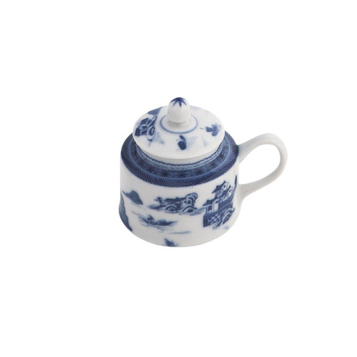"Blue Canton 2 ¾"" Mustard Pot - MOTTAHEDEH & COMPANY, INC - The Shops at Mount Vernon"