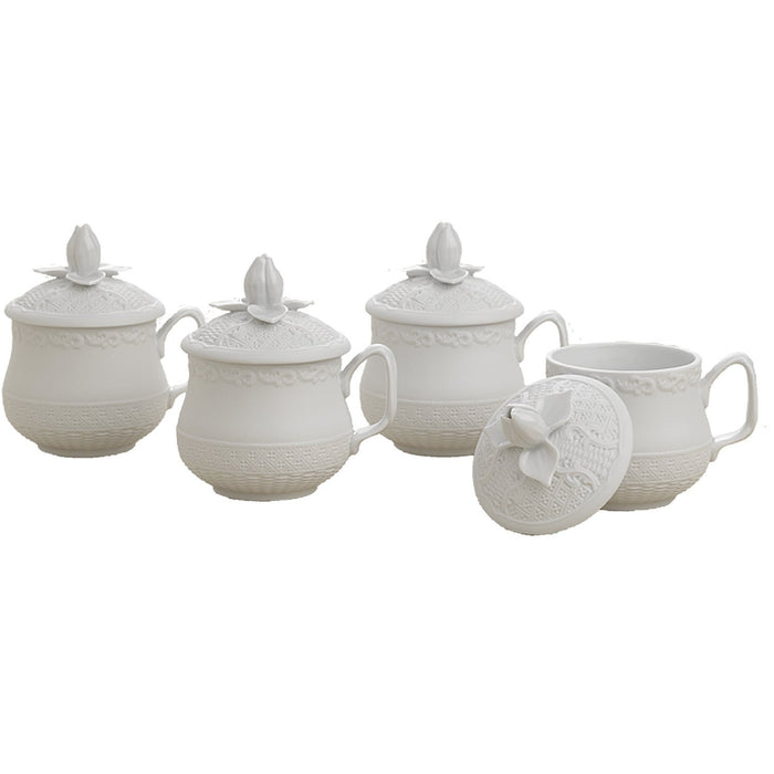 Mount Vernon Prosperity Set of 4 Pots-de-Creme - MOTTAHEDEH & COMPANY, INC - The Shops at Mount Vernon