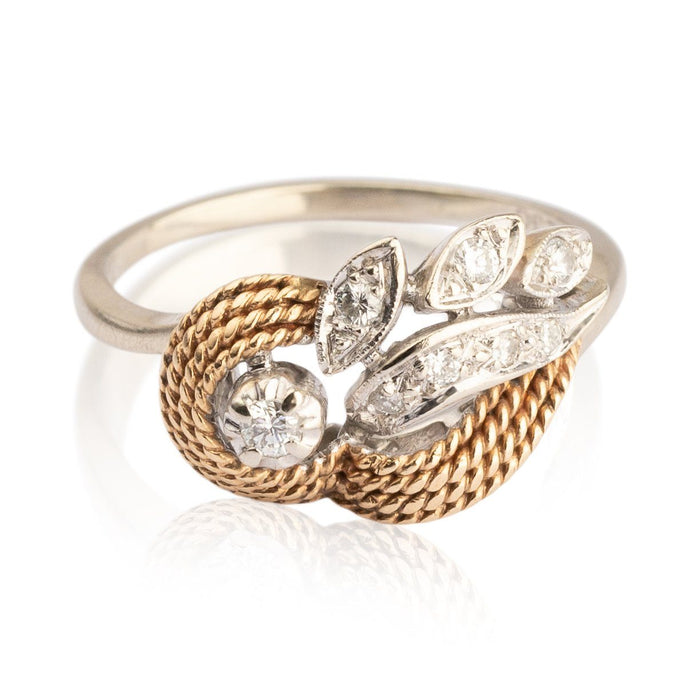 Two-Tone Gold and Diamond Ring - THE ANTIQUE GUILD - The Shops at Mount Vernon