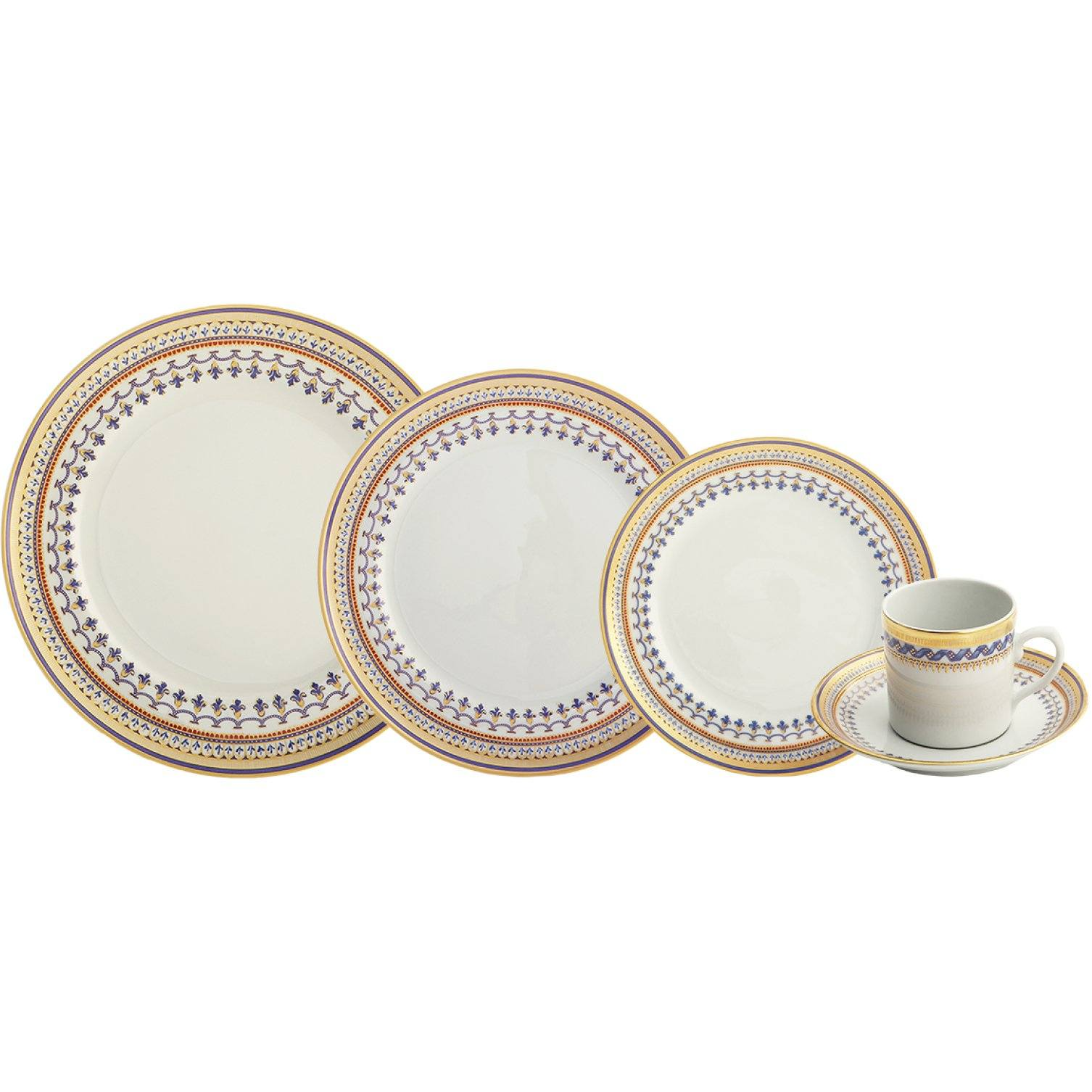 Chinoise Blue 5-piece Place Setting