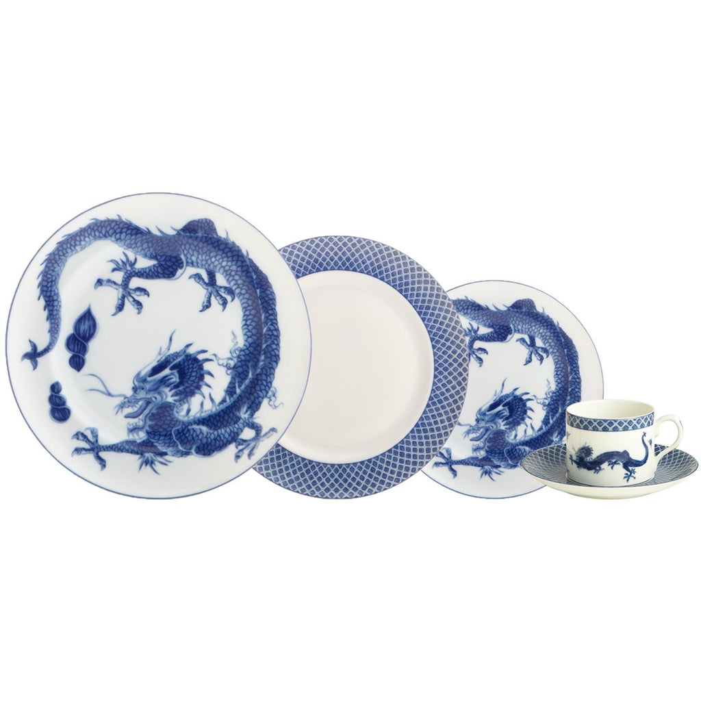 Blue Dragon 5-piece Place Setting