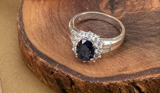 Sapphire and Diamond Ring - THE ANTIQUE GUILD - The Shops at Mount Vernon