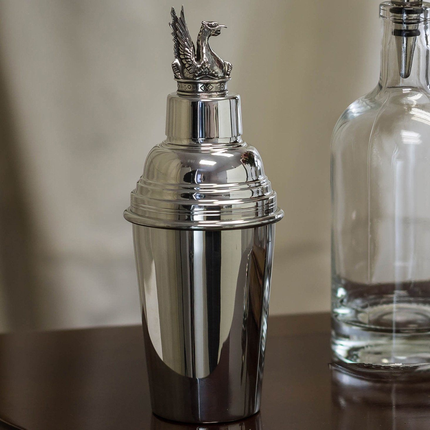 Mount Vernon Pewter Griffin Cocktail Shaker