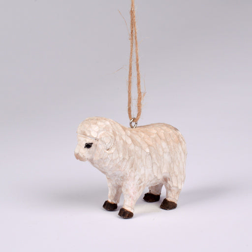 Wooden Hog Island Sheep Ornament - DESIGN MASTER ASSOCIATES - The Shops at Mount Vernon