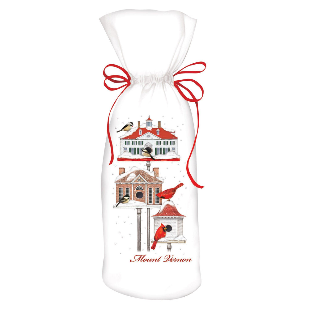 Winter Bird Houses Wine Bag - MARY LAKE-THOMPSON LTD - The Shops at Mount Vernon