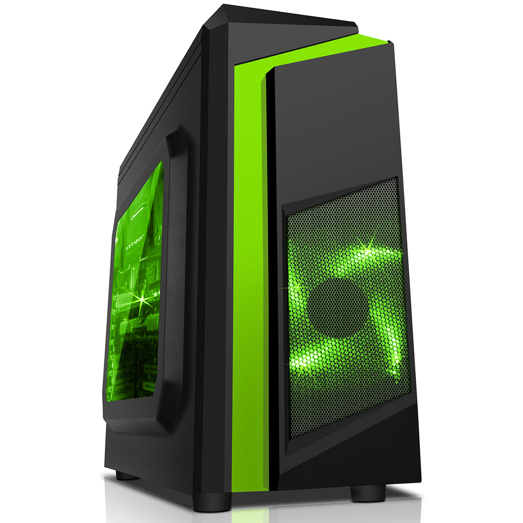 WINDOWS 10 GAMING COMPUTER PC 8GB 1TB HDD INTEL CORE 2 DUO E8400 3.00GHz GREEN