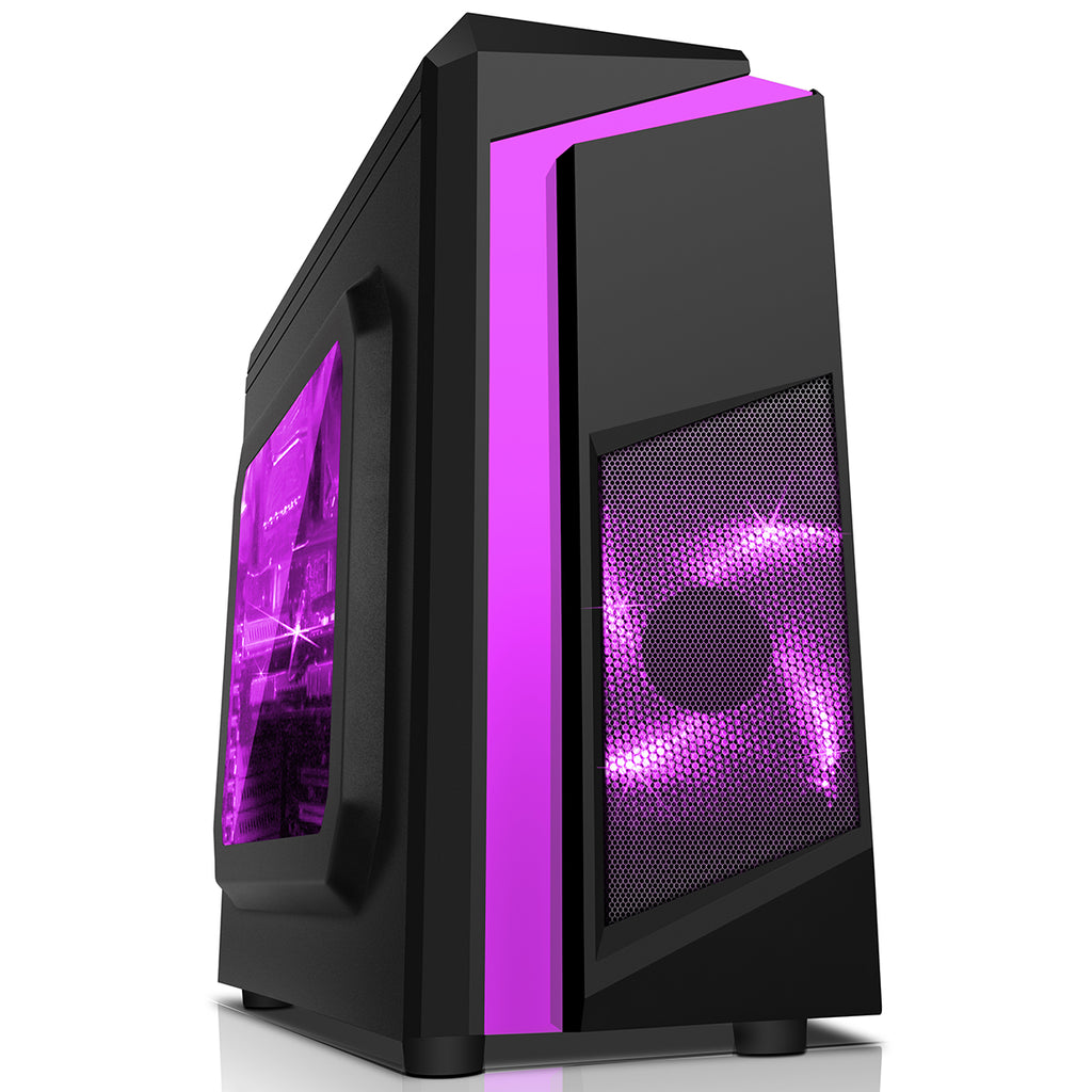WINDOWS 10 GAMING COMPUTER PC 8GB 1TB HDD INTEL CORE 2 DUO E8400 3.00GHz PURPLE