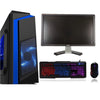 F3 Blue Gaming PC Bundle Quad Core i5-4570 3.6GHz 4th Gen 16GB 1TB Windows 10 4GB GTX 1650