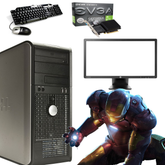 Dell Dual Core Gaming PC - 8GB Memory - Windows 10 - Nvidia 2GB GT 710 Graphics - Screen Options