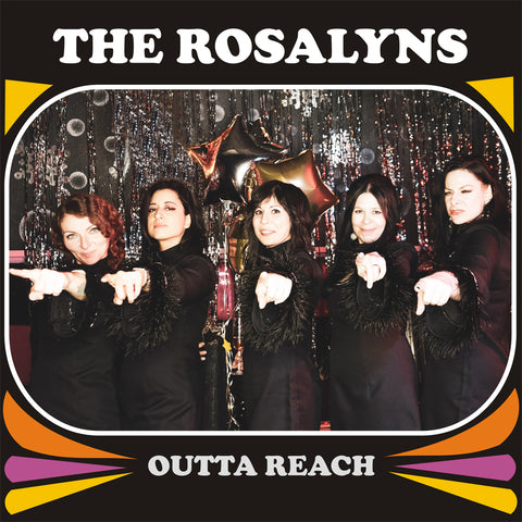 "***PRE-ORDER*** The Rosalyns - Outta Reach LP on ""Lipstick RED"" colored vinyl (Release date November 15, Estimated ship date November 1)"