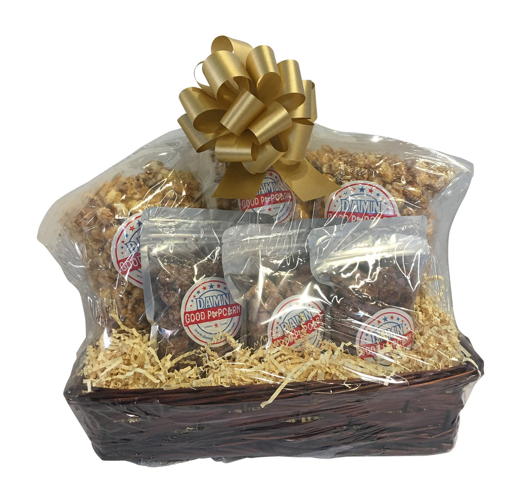 New Popcorn and Nut Gift Baskets and Gift Packs!