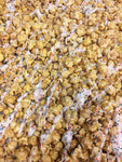 Gourmet Birthday Cake Popcorn with White Chocolate Icing Sprinkles