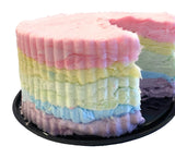 Personalized Rainbow Cotton Candy Cake