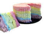 rainbow cotton candy cake