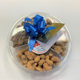 Nut Lovers Gift Pack Frosted Pecans, Cashews & Walnuts with Bow and Gift Card