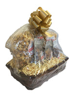 Nut Lovers Deluxe Gift Basket Caramel Cashew Caramel Pecan with Bow and Gift Card