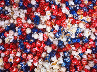 Patriotic Red White Blue Candy Popcorn
