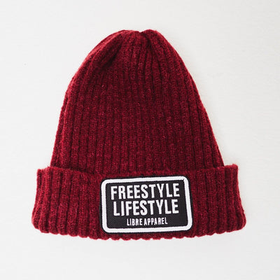 Beanie freestyle burgundy - libre_scl