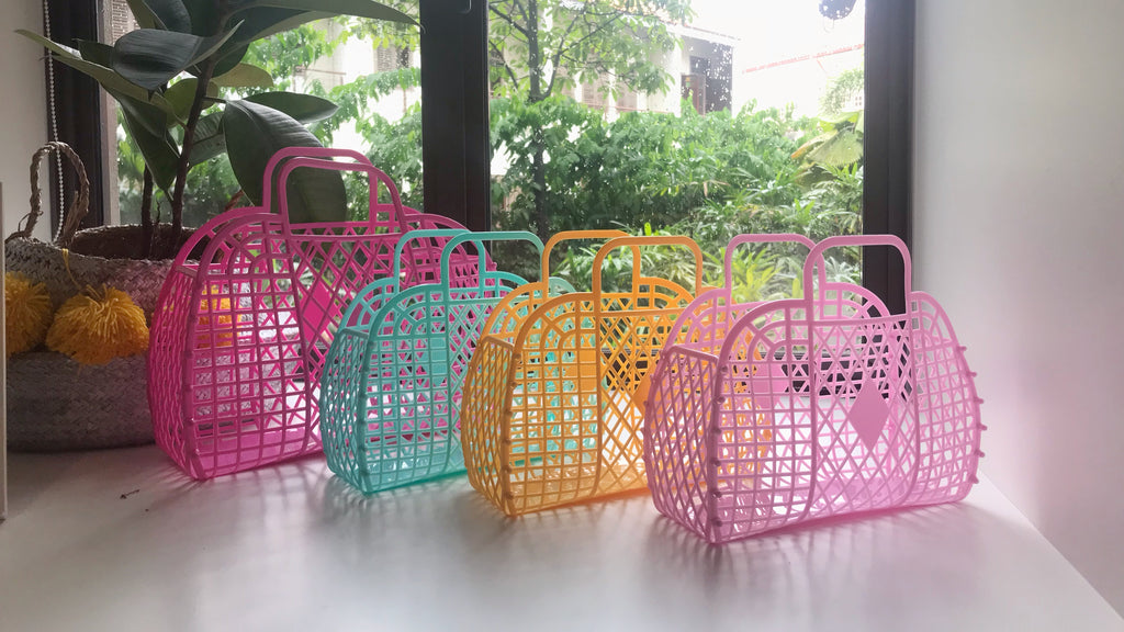Retro Basket (Mini) - Blush Pink