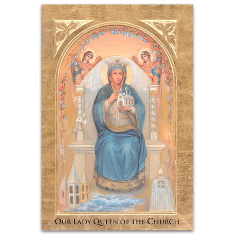 Our Lady Queen of the Church Holy Card