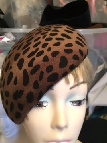 FAC47 Ladies Felt curve Tear Drop's shape Pill Box Hat Base/ Races / Weddings/ Ascot