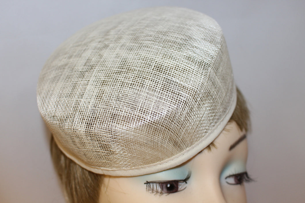 SAC22  Sinamay Small Pill Box  shape Hat Base/ Races / Weddings/ Ascot